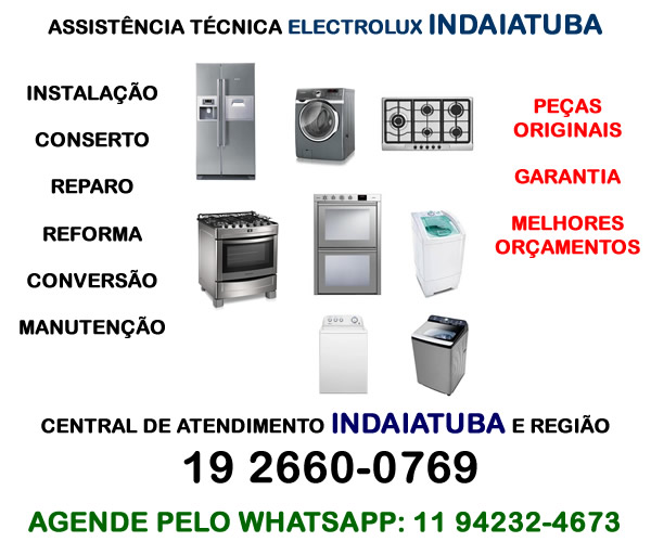 Assistência técnica Electrolux Indaiatuba